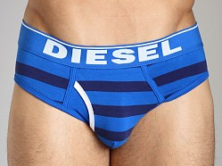 Diesel Fresh & Bright Striped Blade Brief Navy/Baby Blue