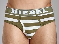 Diesel Fresh & Bright Striped Blade Brief Green/White
