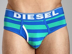 Diesel Fresh & Bright Striped Blade Brief Green/Blue