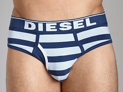 Diesel Fresh & Bright Striped Blade Brief Blue/Powder Blue