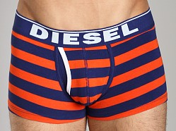 Diesel Fresh & Bright Striped Divine Boxer Short Orange/Blue
