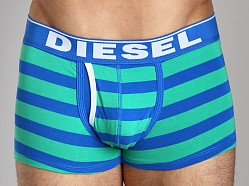 Diesel Fresh & Bright Striped Divine Boxer Short Green/Blue