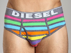 Diesel Rainbow Striped Blade Brief Grey