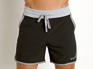 2xist Core Contrast Binding Jogger Short Black