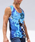 Rurskin Gatto Sport Tank Top Sublimation Print, view 3