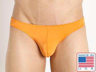 Pistol Pete Nylon/Spandex Rainbow Bikini Brief Orange