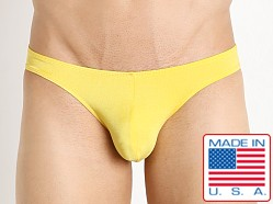 Pistol Pete Nylon/Spandex Rainbow Bikini Brief Yellow