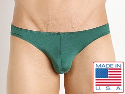 Pistol Pete Nylon/Spandex Rainbow Bikini Brief Green