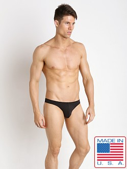 Pistol Pete Nylon/Spandex Rainbow Bikini Brief Black