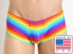 Pistol Pete Pixel Rainbow Pouch Swim Trunk