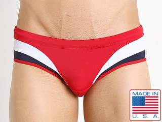 Pistol Pete Euro Swim Brief Red