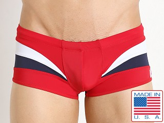 Pistol Pete Euro Swim Trunk Red