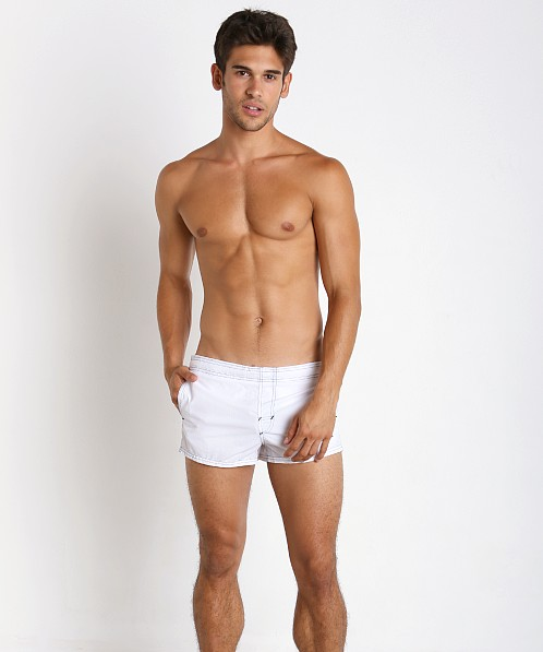 John Sievers Natural Pouch Swim Trunk White