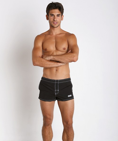 John Sievers Natural Pouch Swim Trunk Black