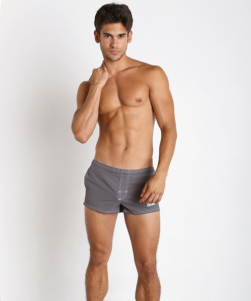 John Sievers Natural Pouch Swim Trunk Steel Grey