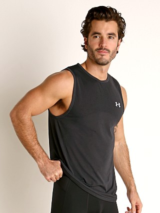 Model in black Under Armour Seamless Tank Top