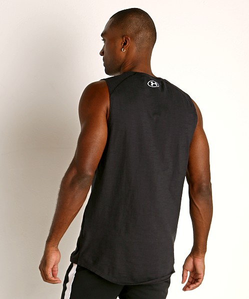 Under Armour Charged Cotton Tank Top Black/White