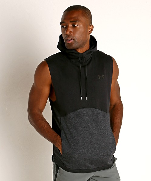 Under Armour Double Knit Sleeveless Hoodie Black/Pitch Gray
