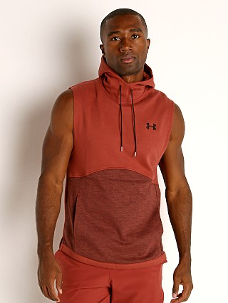 Under Armour Double Knit Sleeveless Hoodie Cinna Red