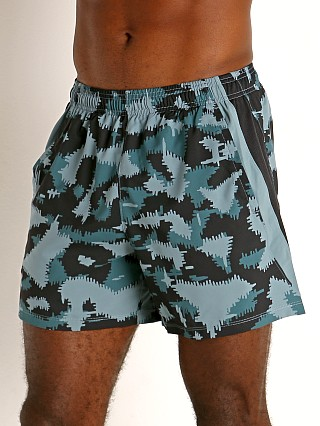 "Under Armour Launch 5"" Running Short Black/Blue Camo"