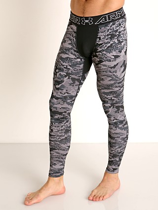 Under Armour Cold Gear Printed Leggings Black/Halo Gray