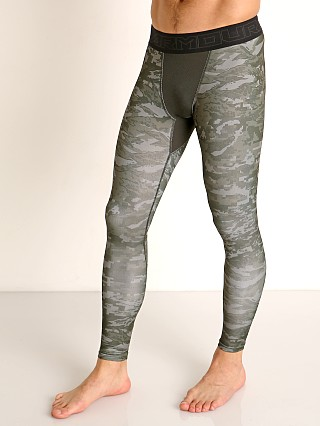 Under Armour Cold Gear Printed Leggings Baroque Green/Halo Gray