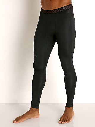 Model in black/reflective Under Armour Cold Gear Rush 2.0 Leggings