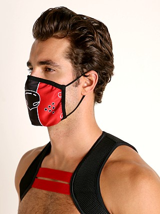 Cell Block 13 Puppy Nose Face Mask Red