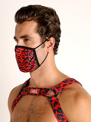 Vaux VX3 Face Mask Leopard Red