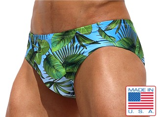 Model in print Rufskin Macuna Sublimated Swim Brief