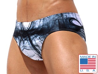 Model in print Rufskin Atomic Sublimated Swim Brief