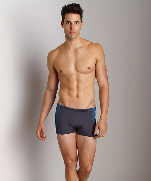 Sauvage Active Squarecut with Sidestripes Charcoal/Teal