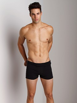 Sauvage Active Tactel Workout Short with Sidestripe Black