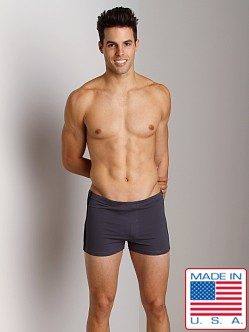 Sauvage Active Tactel Workout Short with Sidestripe Slate