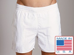 Sauvage Italian Pull-On Beach Swim Short White