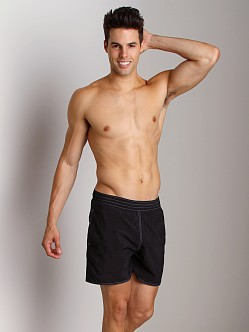 Sauvage Italian Pull-On Beach Swim Short Black