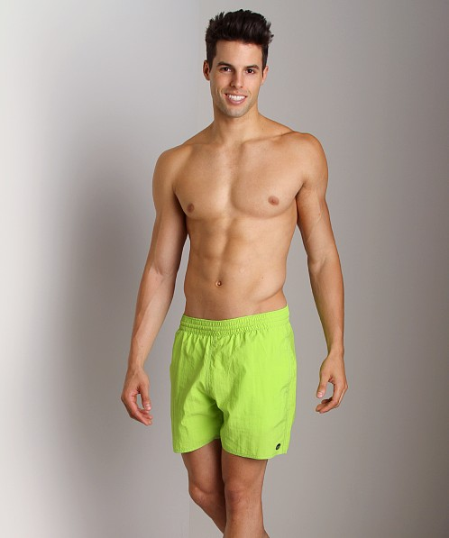 Sauvage Italian Pull-On Beach Swim Short Lime