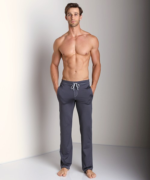 Sauvage Active Performance Low Rise Workout Pant Charcoal