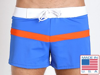 Sauvage Sporty Style Swim Trunks Royal/Orange