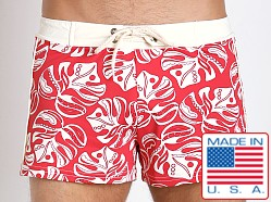 Sauvage Italian Nylon Lycra Floral Swim Trunk Indian Flower