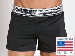 Sauvage Slim Fit Retro Swim Trunk Roman Black