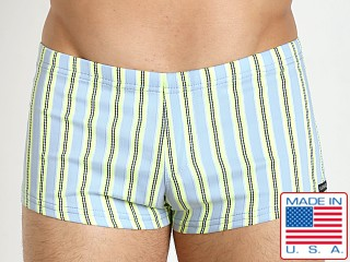 Sauvage Como Italia Swim Trunks Aqua Stripe
