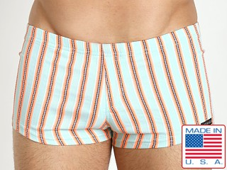 Sauvage Como Italia Swim Trunks Orange Stripe
