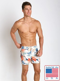 Sauvage Laguna Surf Short White Flower Print