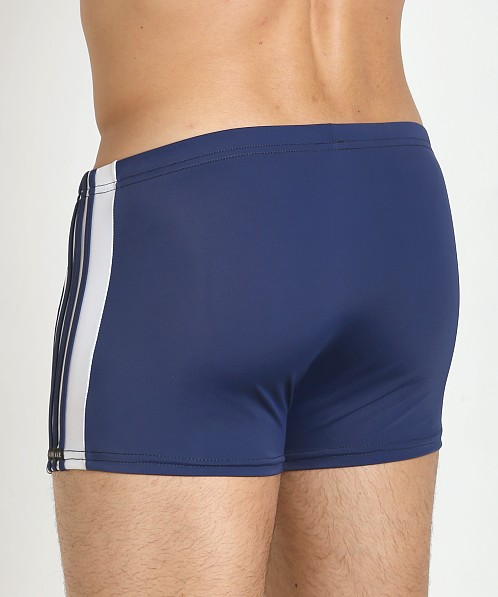 Sauvage Freestyle Nylon Lycra Swim Trunk Navy/White