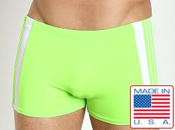 Sauvage Freestyle Nylon Lycra Swim Trunk Lime/White