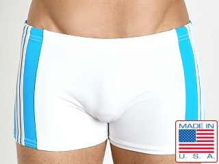 Sauvage Freestyle Nylon Lycra Swim Trunk White/Turquoise
