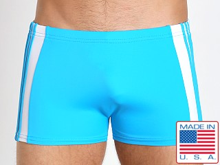 Sauvage Freestyle Nylon Lycra Swim Trunk Turquoise/White
