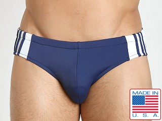 Sauvage Freestyle Nylon Lycra Racing Brief Navy/White