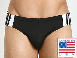 Sauvage Freestyle Nylon Lycra Racing Brief Black/White